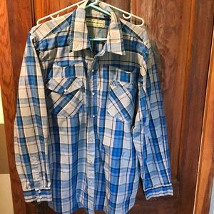 Men's western shirt bit n bridle XL
